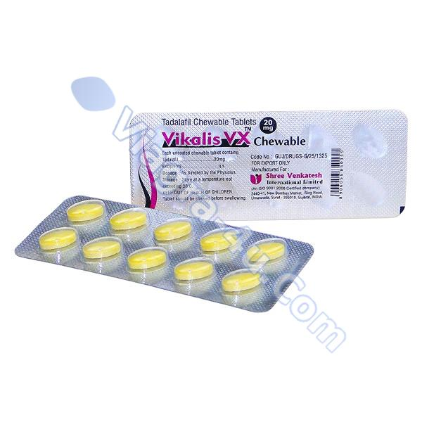 Vikalis Vx Chewable (Tadalafil) 20mg