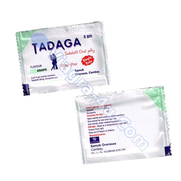 Tadaga Oral Jelly (Tadalafil) 20mg