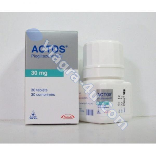 Generic Actos (pioglitazone) 30mg